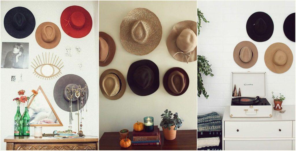 chapéus na decoração